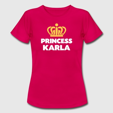 Princess karla name thing crown - Women's T-Shirt