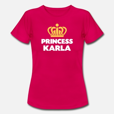 Karla Princess karla name thing crown - Women's T-Shirt