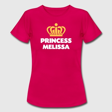 Princess melissa name thing crown - Women's T-Shirt