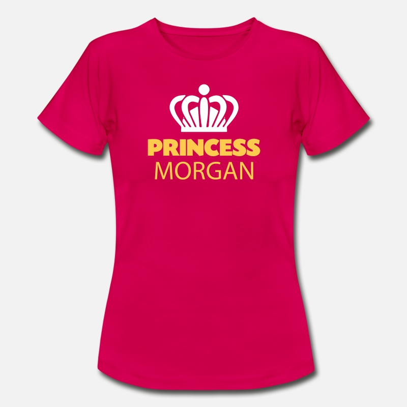 T-Shirts - Princess morgan name thing crown - Women's T-Shirt ruby red