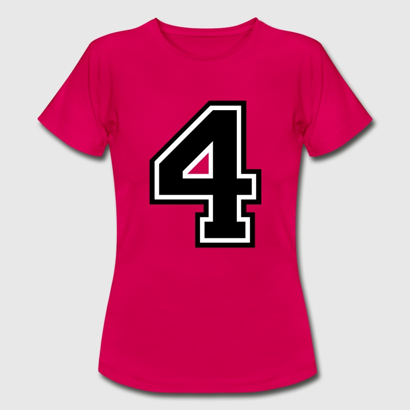 Number 4 Four - Women's T-Shirt
