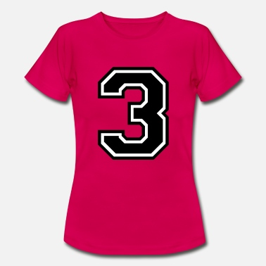 Number 3 Number 3 Three - Women's T-Shirt
