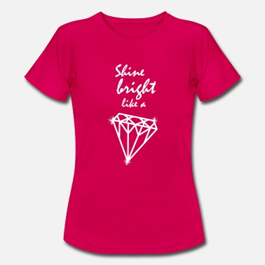 Shining Diamond White Shining - Vrouwen T-shirt