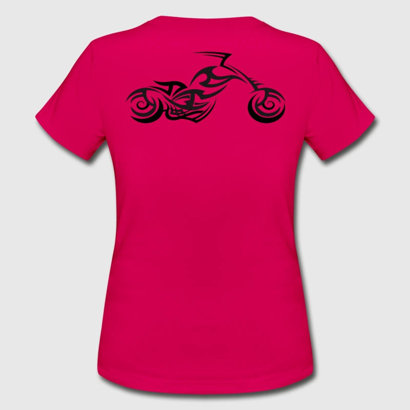 Tribal Tattoo Style Motorcycle - Women's T-Shirt