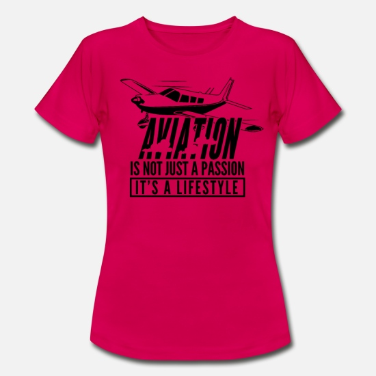 Aviation T-Shirts - Aviation - Aviation Its A Lifestyle - Women's T-Shirt ruby red