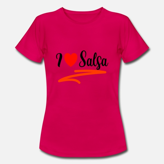 Love T-Shirts - i love salsa - Women's T-Shirt ruby red