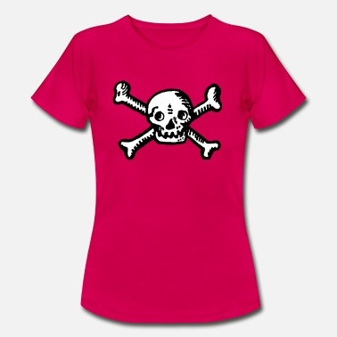 Kaperfart Skull and crossbones (symbol) - T-skjorte for kvinner