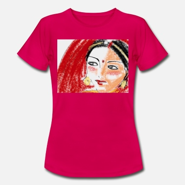 Bollywood, Indian woman - Women's T-Shirt