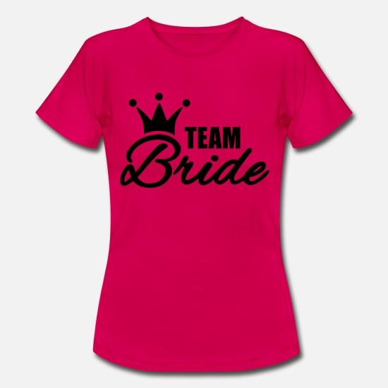 Spiksplinternieuw Team Bride Vrijgezellenfeest Vrouwen T-shirt | Spreadshirt RA-44