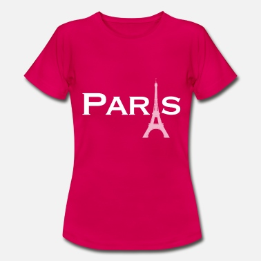 Paris i vitt - T-shirt dam