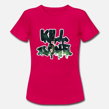 Killian Halloween Kill Splatter Danger Zone siger slogan - T-shirt dame
