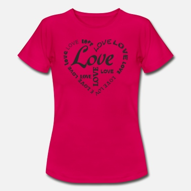 Love With Heart LOVE LOVE HEART - T-skjorte for kvinner