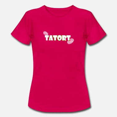 Tatort TATORT Fingerabdruck Crime Design - Frauen T-Shirt