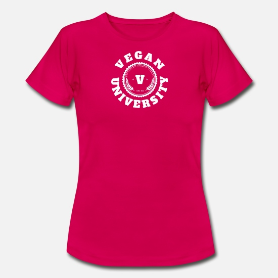 Vegan T-Shirts - Vegan University - Women's T-Shirt ruby red