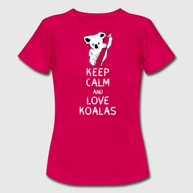 Koala keep calm love koalas bear tree nap nerd geek - Women's T-Shirt