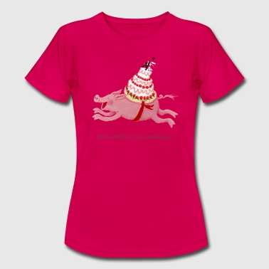 Haat Wedding pig let out the pig again - Vrouwen T-shirt