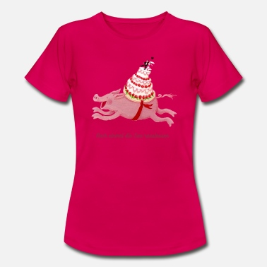 Running Wedding pig let out the pig again - Vrouwen T-shirt