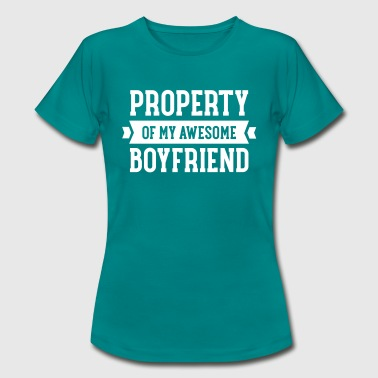 Property Of My Awesome Boyfriend - T-shirt Femme