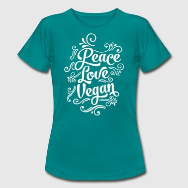 Peace - Love - Vegan - Women's T-Shirt