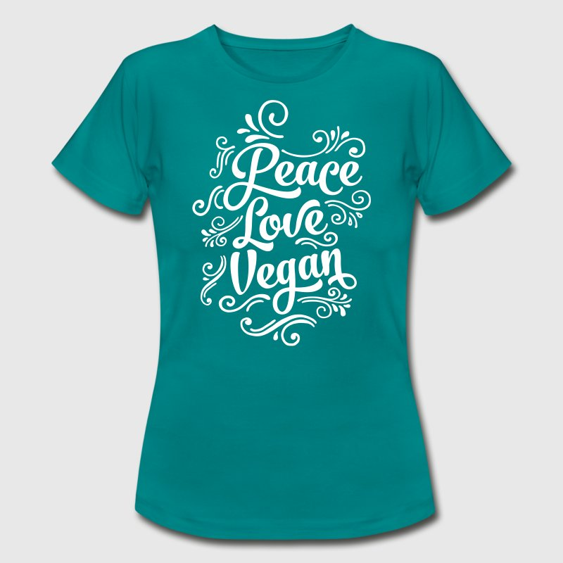 Peace - Love - Vegan - Vrouwen T-shirt