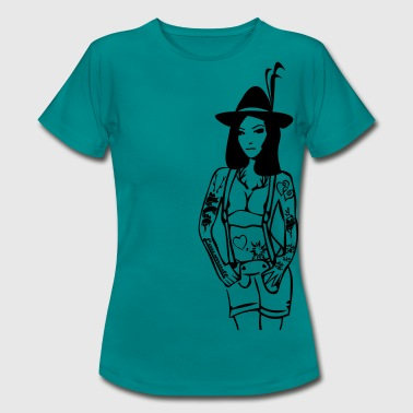 alm tatto girl - Women's T-Shirt