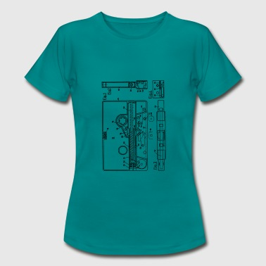 Blueprint of a cassette - Vintage Music Design - Women's T-Shirt