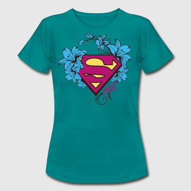 Superman Super Mom Flowers Pink - T-shirt Femme
