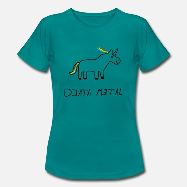 Death Metal Unicorn Death Metal Unicorn - Women's T-Shirt