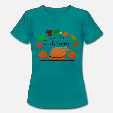 Thanksgiving Thanksgiving - ThanksGiving Turquía y calabaza - Camiseta mujer