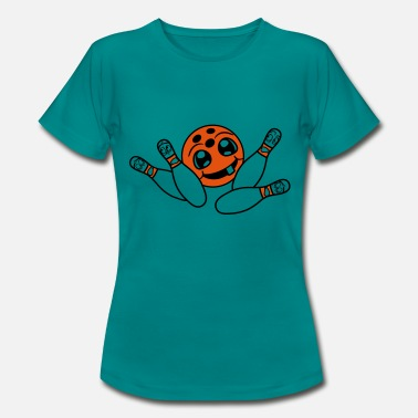 Strike Ball fear faces strike upset ball bowling ball - Women's T-Shirt