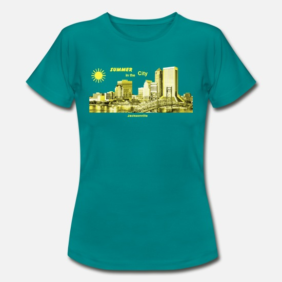 Florida T-Shirts - Summer Jacksonville Florida USA - Frauen T-Shirt Divablau
