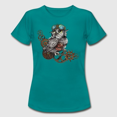 Steampunk Eule - Frauen T-Shirt