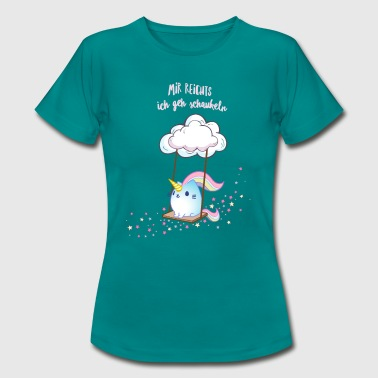 Caticorn Schaukel - Frauen T-Shirt