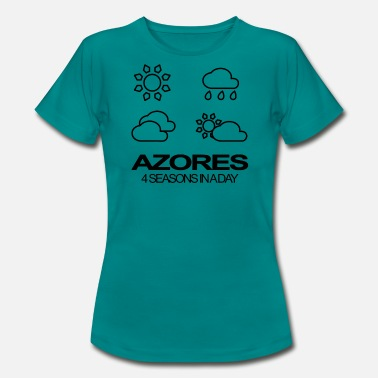 Azoren Azores 4 Seasons in a day - Frauen T-Shirt