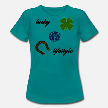 Lucky Dice lucky lifestyle, luck, dice, horseshoe - Women's T-Shirt