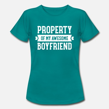 Property Property Of My Awesome Boyfriend - Women's T-Shirt