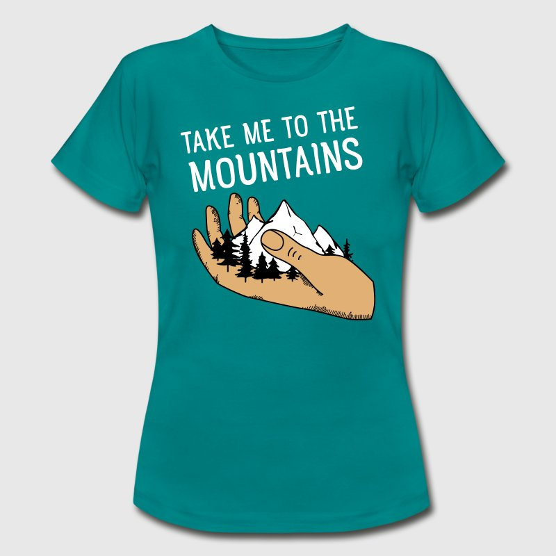 Take Me To The Mountains | Hand with Mountains - Camiseta mujer