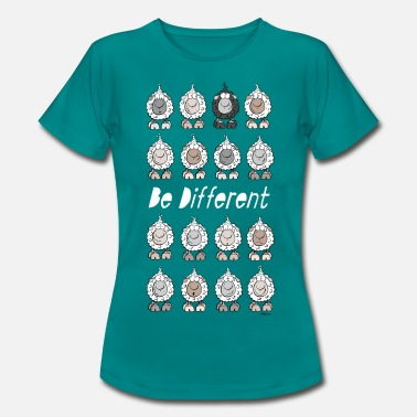 Cartoon Be Different Sheep - Women's T-Shirt