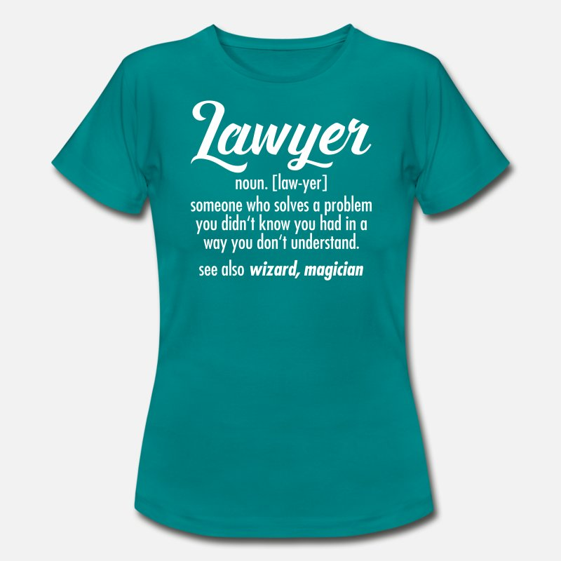 Lawyer T-Shirts - Lawyer - Definition - Women's T-Shirt diva blue