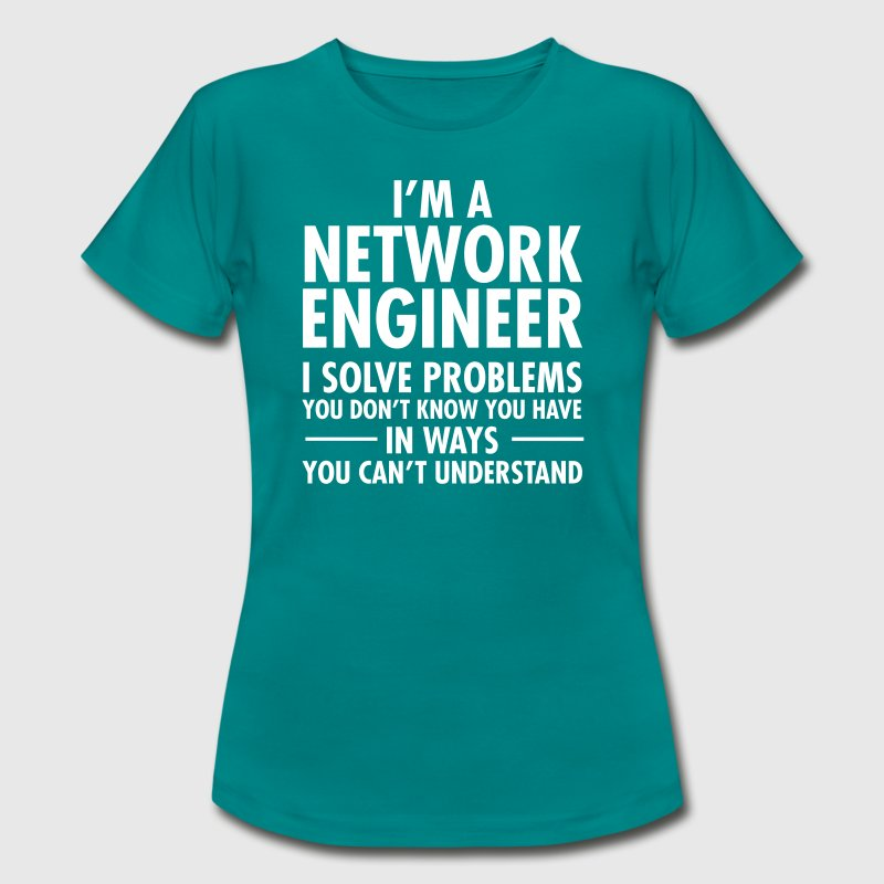 Geek Network Engineer Solve Problems - Camiseta mujer