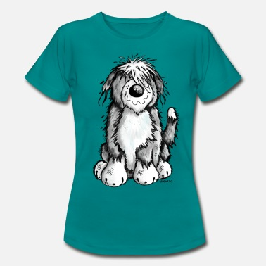 Bearded Collies Cute Bearded Collie - Women's T-Shirt