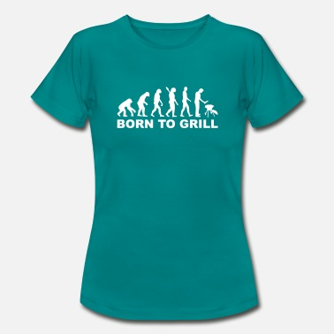 Born To Grill Evolutie - Born to Grill - Vrouwen T-shirt