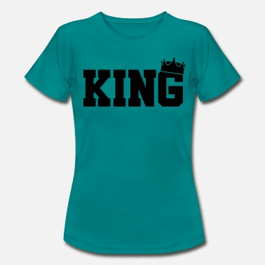 Matching Couples King Crown Couple Love Matching Relationship - Women's T-Shirt