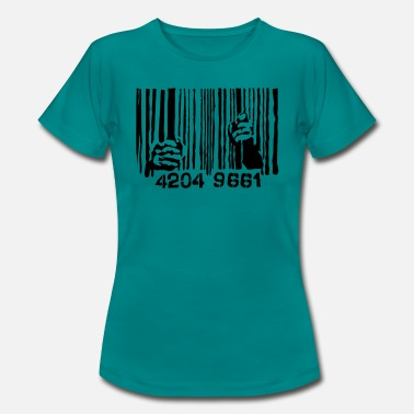 Bar Code Behind bars bar code - Women's T-Shirt