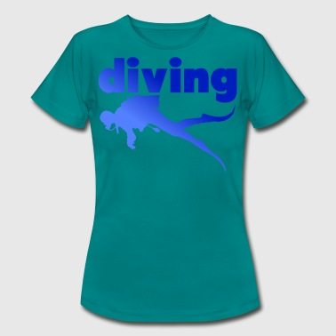 Dykning Dykning Dykning - Dame-T-shirt