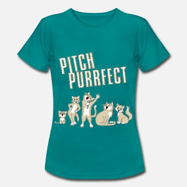 Pitching Pitch Purrfect - Women's T-Shirt