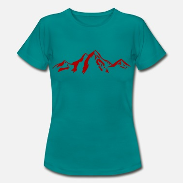 Scenery Mountain scenery / Mountains red - Women's T-Shirt