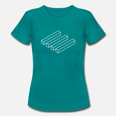 Optical Illusion optical blocks - Frauen T-Shirt