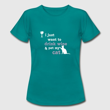 Glass Tiger A glass of wine and my cat - Women's T-Shirt