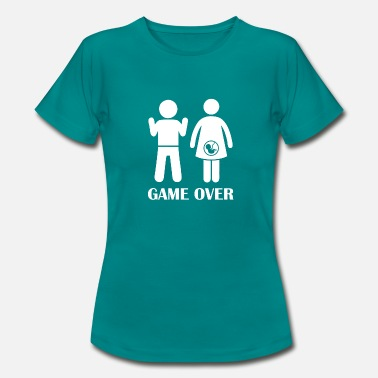 Futur Papa GAME OVER enceinte - T-shirt Femme